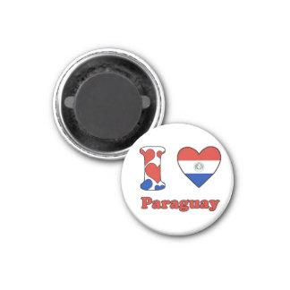 I love Paraguay Magnet