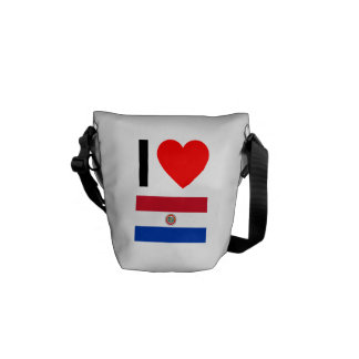 i love paraguay courier bags