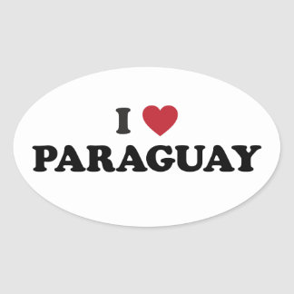 I Love Paraguay Sticker