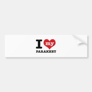 I Love parakeet Bumper Stickers