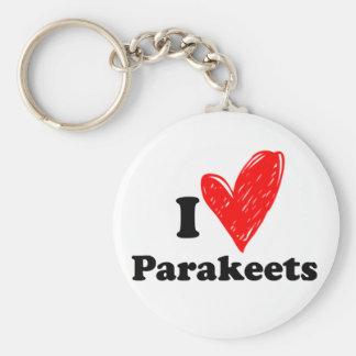 I love parakeets keychain