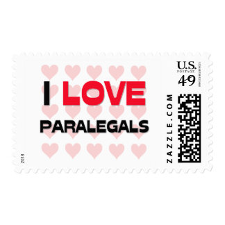 I LOVE PARALEGALS STAMPS