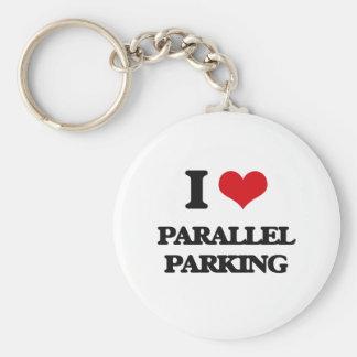 I Love Parallel Parking Basic Round Button Keychain