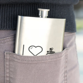 I Love Paralympic Olympiads Hip Flasks