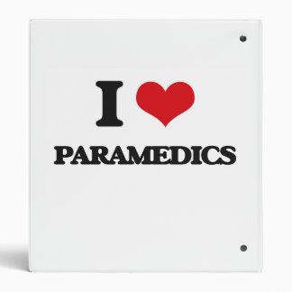 I Love Paramedics Vinyl Binder