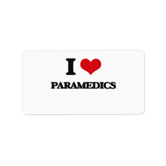 I love Paramedics Address Label
