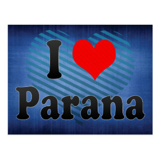 I Love Parana, Argentina Postcard