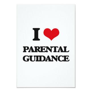 "I Love Parental Guidance 3.5"" X 5"" Invitation Card"