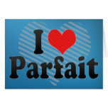 I Love Parfait Greeting Card