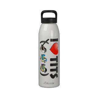 I Love Paridae EU Reusable Water Bottles