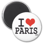 I love Paris 2 Inch Round Magnet