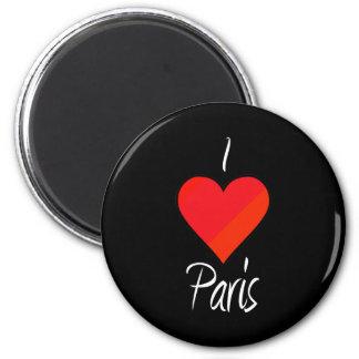 I Love Paris 2 Inch Round Magnet