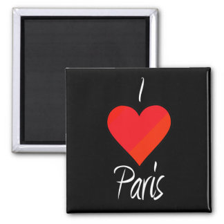 I Love Paris 2 Inch Square Magnet