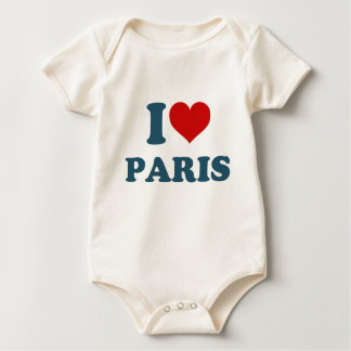 I Love Paris Baby Bodysuit