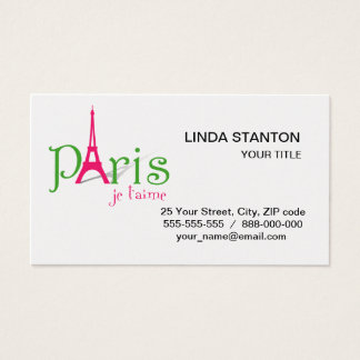 I love Paris Business Card