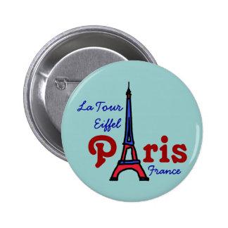 I love Paris 2 Inch Round Button