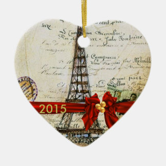 I LOVE PARIS CHRISTMAS Ornament CUSTOM CHIC 2015