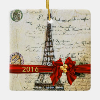 I LOVE PARIS CHRISTMAS Ornament CUSTOM CHIC 2016