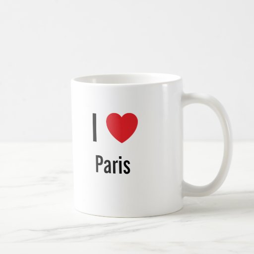 I love Paris Classic White Coffee Mug