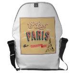 I Love Paris Courier Bags