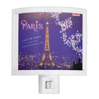 I Love Paris Eiffel Tower Butterflies Nightlight