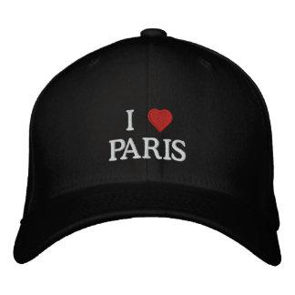 I Love Paris Embroidered Baseball Hat