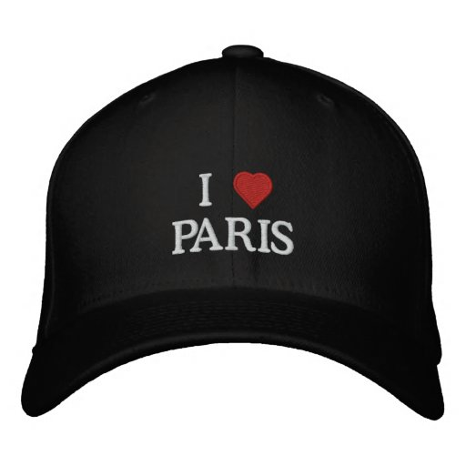 I Love Paris Embroidered Baseball Hat