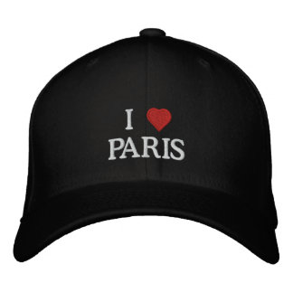 I Love Paris Embroidered Hats