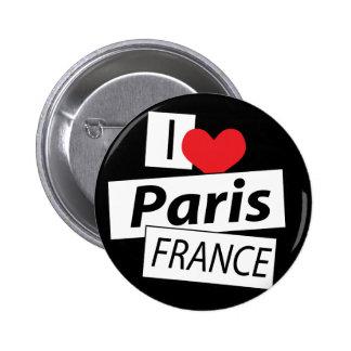 I Love Paris France Button