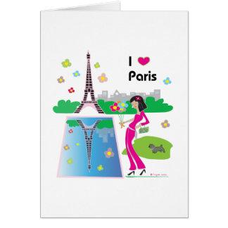 I love Paris, France Card