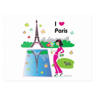 I love Paris, France Postcard