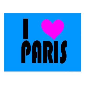 I Love Paris France postcard