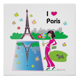 I love Paris, France Poster