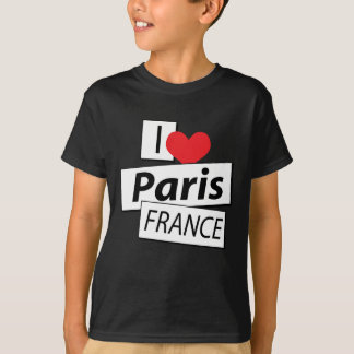I Love Paris France T-Shirt