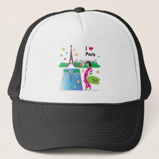 I love Paris, France Trucker Hat