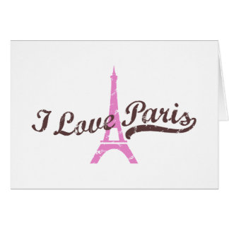 I Love Paris Greeting Cards