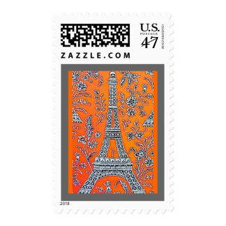 I Love Paris Grey Postage