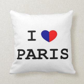 I Love Paris Heart American MoJo Pillow