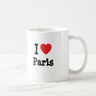 I love Paris heart custom personalized Coffee Mug