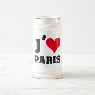 I Love Paris Heart France Edition Beer Stein