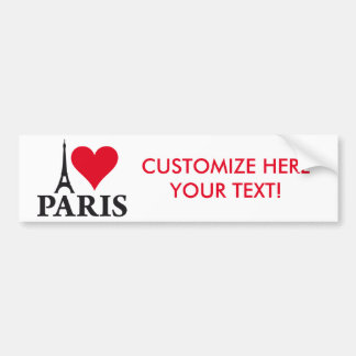 I Love Paris Heart France Edition Bumper Sticker
