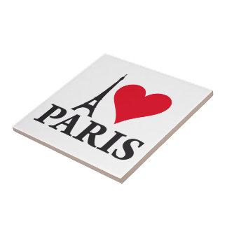 I Love Paris Heart France Edition Tile