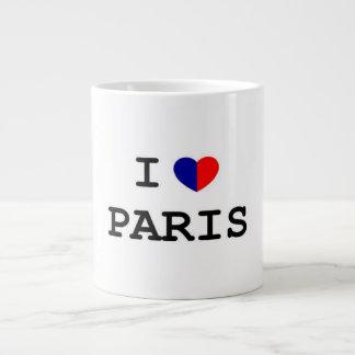I Love Paris Heart Jumbo Mug