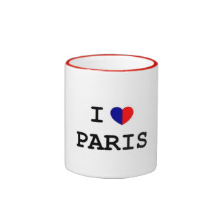 I Love Paris Heart Ringer Mug