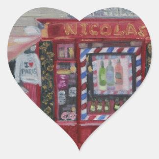 I LOVE PARIS HEART STICKER
