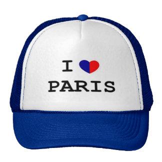 I Love Paris Heart Trucker Hat