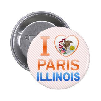 I Love Paris, IL 2 Inch Round Button
