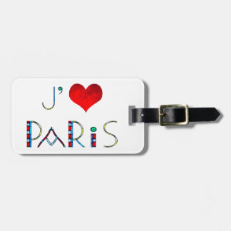 I Love Paris in Notre Dame Stained Glass Bag Tag