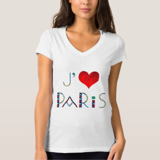 I Love Paris in Notre Dame Stained Glass T-Shirt