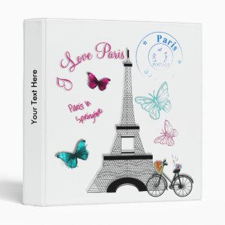 I Love Paris In Springtime 3 Ring Binder